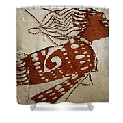 Nude 3 - Tile Shower Curtain