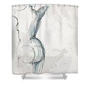 Nude 4a Shower Curtain by MGL Meiklejohn Graphics Licensing