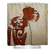 Nude 8 - Tile Shower Curtain