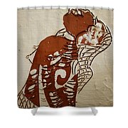 Nude 9 - Tile Shower Curtain