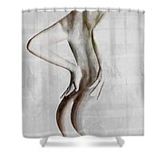 Nude Abstract Greys 2 Shower Curtain