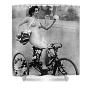 Nude And Bicycle, C1900 Shower Curtain