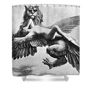Nude And Griffin, 1890s Shower Curtain