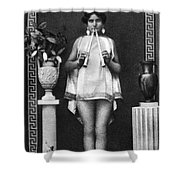 Nude As Ancient Musician Shower Curtain