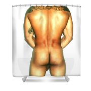 Nude Back Shower Curtain