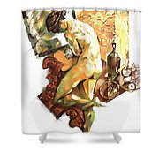 Nude Bathing Shower Curtain