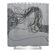 Nude I Shower Curtain
