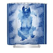 Nude In Blue Shower Curtain
