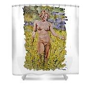 Nude In Field Shower Curtain