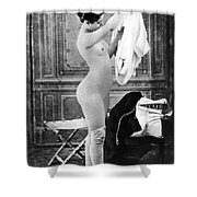 Nude In Stockings, C1880 Shower Curtain