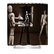 Nude Model  Shower Curtain by Bob Orsillo