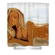 Nude On The Beach Shower Curtain