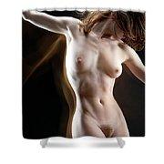 Nude-pate1 Shower Curtain