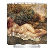 Nude Shower Curtain by Pierre Auguste Renoir