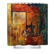 Nude  Shower Curtain by Pol Ledent