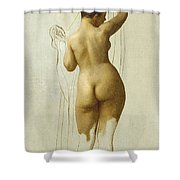 Nude. Queen Rodophe Shower Curtain