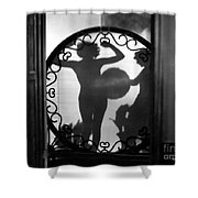 Nude Shadow, 1920s Shower Curtain