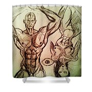 Nude Sketch 49 Shower Curtain