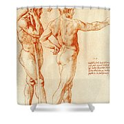 Nude Study Of Two Warriors Shower Curtain