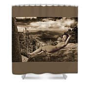 Nude Sunbather Shower Curtain