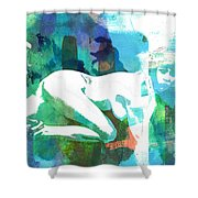 Nude Woman Painting Photographic Print 0031.02 Shower Curtain