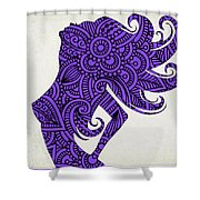 Nude Woman Silhouette Ultraviolet Shower Curtain