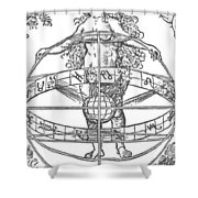 Nude Woman With The Zodiac Shower Curtain