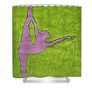 Pink Nude Yoga Girl Shower Curtain