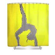 Nude Yoga Girl Gray Shower Curtain