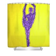 Nude Yoga Girl Violet Shower Curtain