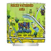 Nueces Watershed Area Shower Curtain
