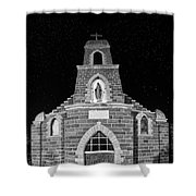 Nuestra Senora De Refugio, Illuminated By The Moon And Yard Lig Shower Curtain