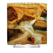 Nuggets Of Gold Shower Curtain by Rick Furmanek