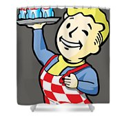 Nuka Boy Shower Curtain by Luis Pangilinan