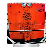 Number 0673 Train Shower Curtain