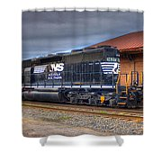 Number 1637 Dash One Shower Curtain