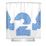 Number 2 Shower Curtain