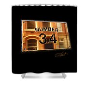 Number 34 Shower Curtain