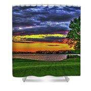 Number 4 The Landing Reynolds Plantation Golf Art Shower Curtain