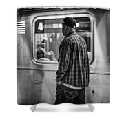 Number 4 Train Shower Curtain