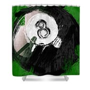 Number Eight Billiards Ball Abstract Shower Curtain