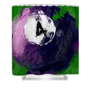 Number Four Billiards Ball Abstract Shower Curtain
