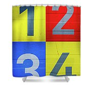Numbers Shower Curtain