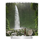 Nungnung Waterfall Shower Curtain