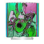 Nuns On A Break Diggin' Jazz Shower Curtain