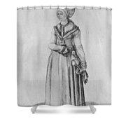 Nuremberg Woman In House Dress Shower Curtain