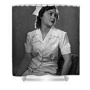 Nurse Rembrandt Lighting Shower Curtain