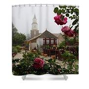Nursery Garden Roses Shower Curtain
