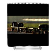 Nursery Wagons Shower Curtain