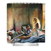 Nurses Are Heroes To Heroes Shower Curtain
